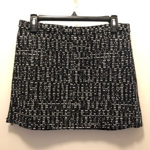 Topshop Black & White Tweed Mini Skirt